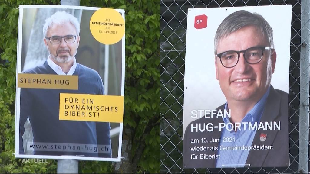 Stefan Hug trifft auf Stephan Hug: Kampf ums Gemeindepräsidium in Biberist