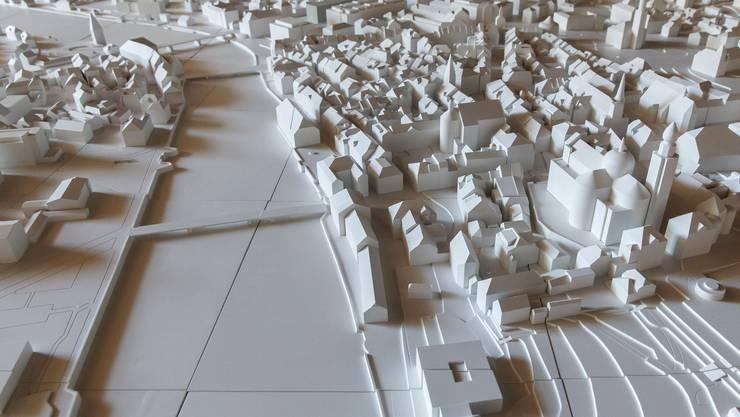 Modell der Stadt Solothurn zur Ortsplanungsrevision.