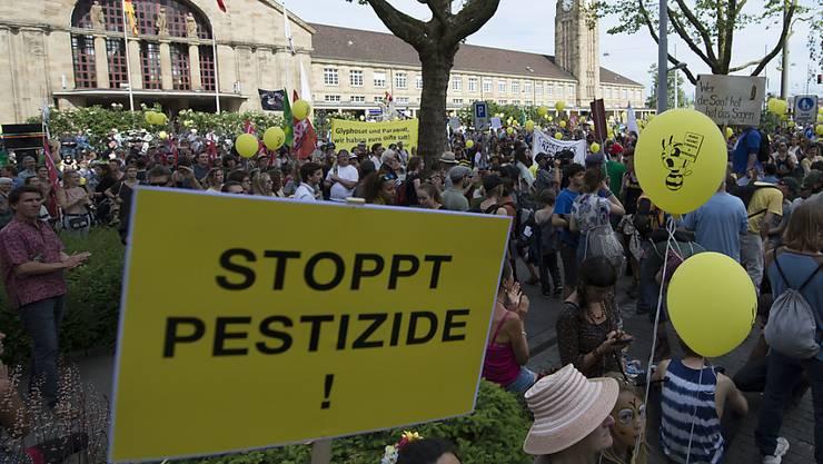 Der Widerstand gegen den Glyphosat-Einsatz in der Landwirtschaft war gross. vor allem die EU-Kommission wurde wegen mangelnder Transparenz kritisiert. (Archivbild)