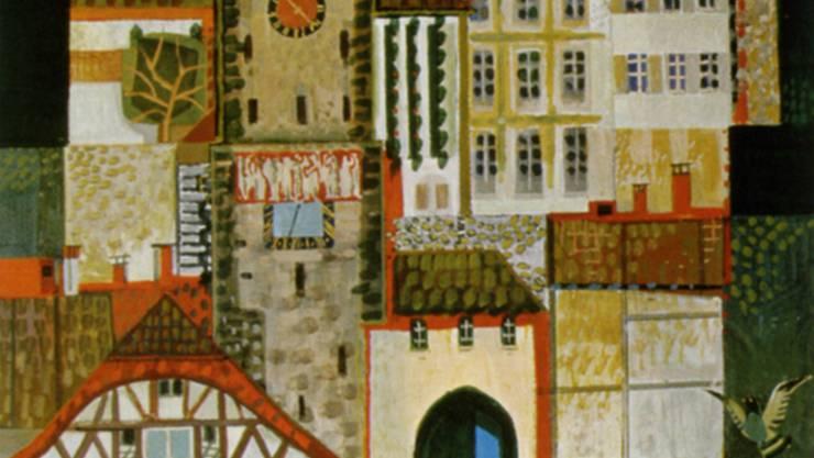 So wurde die Altstadt auf einem Plakat von Roland Guignard 1970 vermarktet. sammlung Trüb