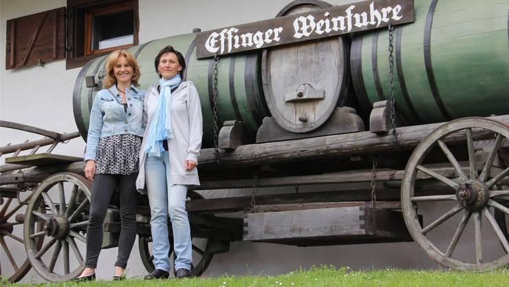Sonia Gerschler (l.) und Sandra Steinacher wollen, dass Effingenwieder einen Treffpunkt im Dorf hat. CM
