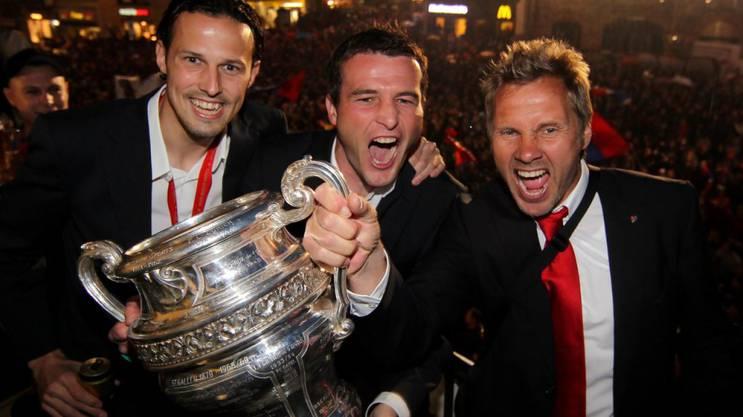 Eine spezielle und wichtige Kombination für den FCB damals: Marco Streller, Alex Frei und Thorsten Fink