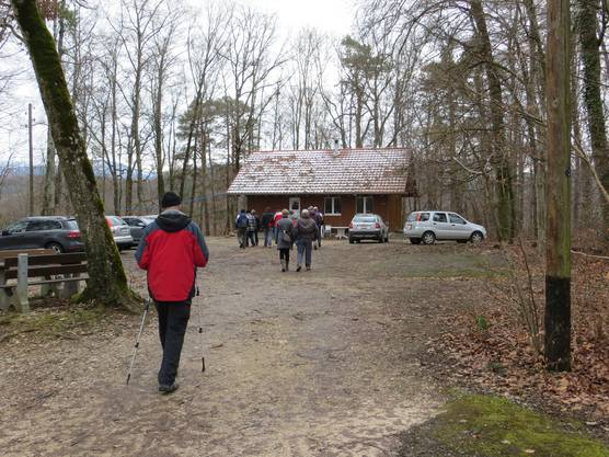 Ankunft St.Pantaleon Schiessstand Roggenstein