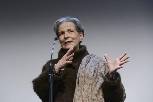 Christine Beerli hält ihre Abschiedsrede
