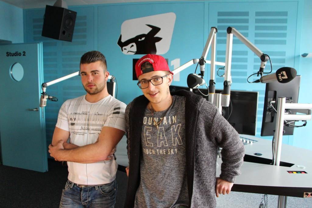 Raphael und Luca bei FM1 (© Raphael Rohner / FMToday)
