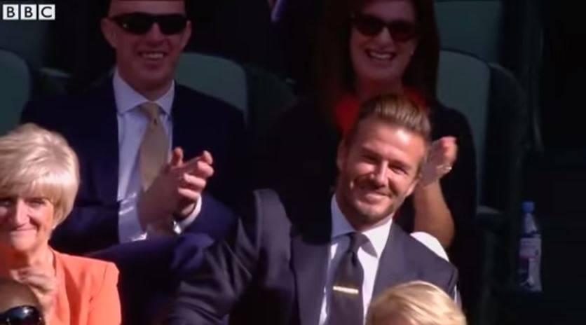 Das muss ein Fussballer-Reflex sein: Die Tennisball-Künste von David Beckham.