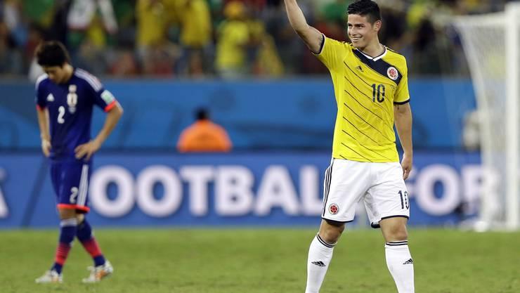 James Rodriguez freut sich über den Gruppensieg