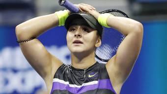 Kann es kaum fassen: In ihrem erst vierten Grand-Slam-Turnier steht die 19-jährige Kanadierin Bianca Andreescu bereits im Final