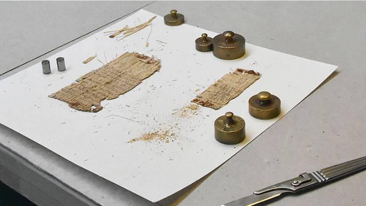Um dieses 2000 Jahre alte Papyrusstück wieder lesbar zu machen, holte die Universität Basel einen Spezialisten.