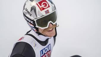 Den Schanzenrekord am Holmenkollen gleich um drei Meter verbessert: Robert Johansson
