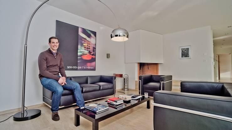 Thierry Burkart ganz privat in seiner Wohnung in Baden: «Heute stellt sich die Frage einer Kandidatur als Stadtammann für mich nicht.»