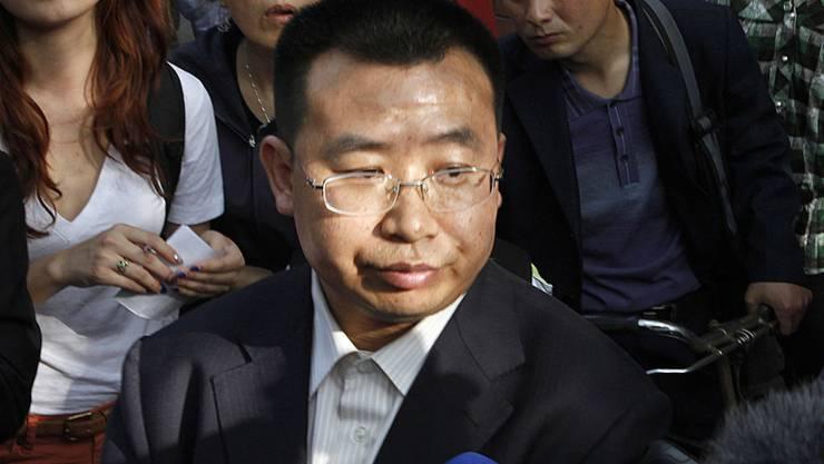 Der bekannte chinesische Bürgerrechtsanwalt Jiang Tianyong ist zu zwei Jahren Haft verurteilt worden. (Archivbild)