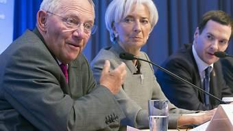 Wolfgang Schäuble (l.) mit IWF-Chefin Christine Lagarde