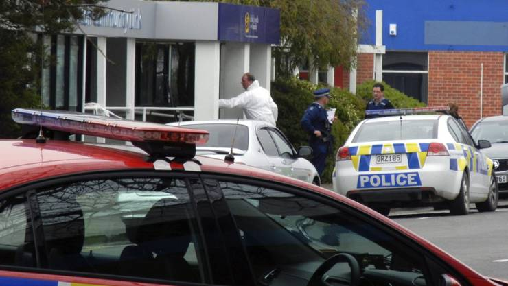 Hier passierte das Verbrechen, für das eine der längsten in Neuseeland je verhängten Strafen ausgesprochen wurde: Sozialamt in Ashburton nach den tödlichen Schüssen auf zwei Mitarbeiterinnen. (Archivbild)