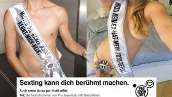 Das Plakat zur Sexting-Kampagne