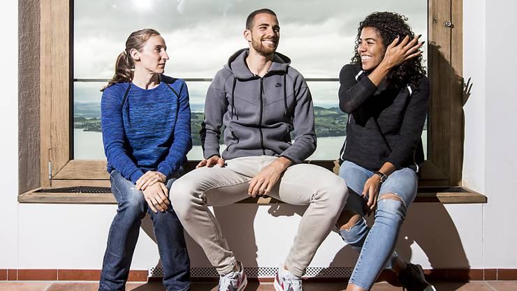 Heute Abend in Luzern am Start: Nicole Büchler, Kariem Hussein und Mujinga Kambundji