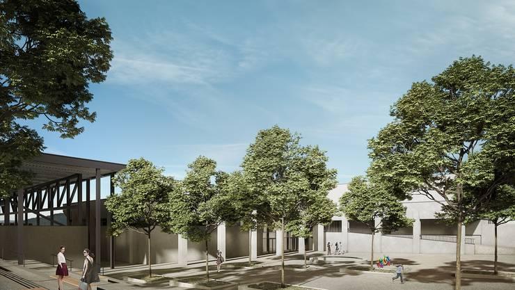 Über den zentralen Eingangsbereich mit Bistro erreichen die Besucher künftig alle Anlagen.