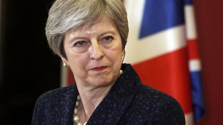 Die britische Premierministerin Theresa May hat eine Niederlage im Unterhaus knapp abgewendet. (Archivbild)