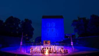 So sah die Aufführung der Oper in Avenches an trockenen Tagen aus