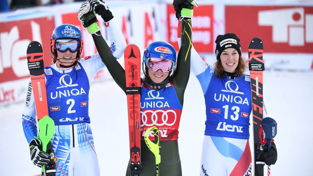 Gisin erstmals auf Slalom-Podest - Shiffrin erneut siegreich