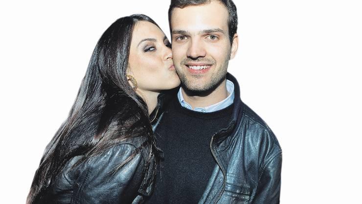 Frau im Glück: Ex-Miss Schweiz Amanda Ammann mit ihrem Freund Claudio.
