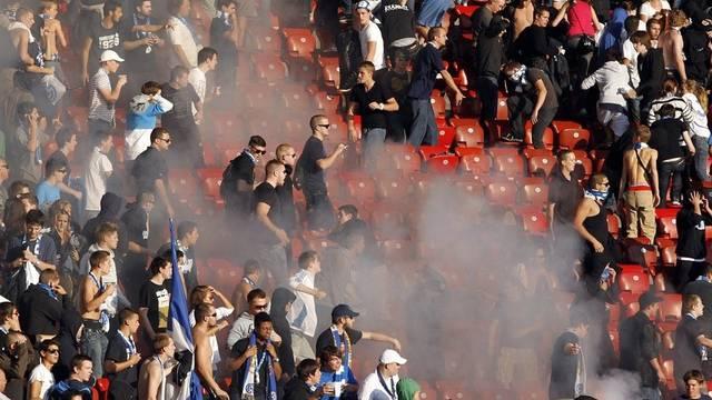 Der Angeklagte soll als eingefleischter FC-Zürich-Fan an einer Schlägerei mit GC-Fans teilgenommen haben.