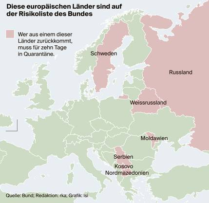 Risikoländer in Europa:
