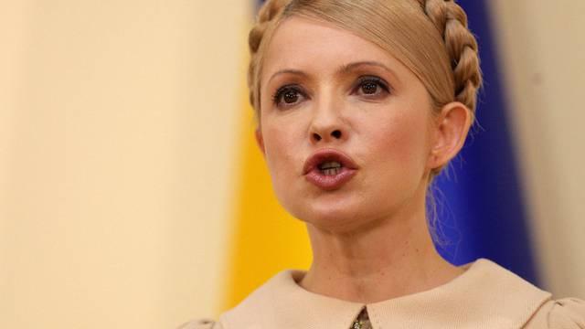 Die inhaftierte Politikerin Julia Timoschenko bei einer Medienkonferenz im Februar 2010 in Kiew
