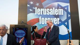 Der als Botschafter in Israel nominierte David Friedman (links) bei einer Kampagne für Jerusalem als Hauptstadt. (Archiv)
