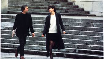 Szene aus «Rien que des mensonges» mit Fanny Ardant und Jacques Perrin unter der Regie von Paule Muret.