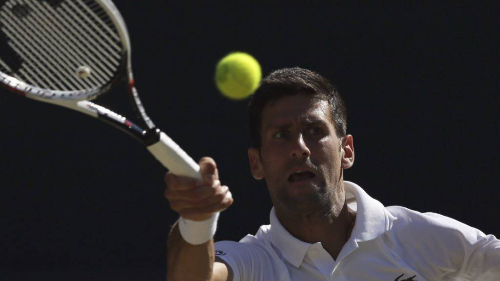 Novak Djokovic steht in Wimbledon in den Achtelfinals