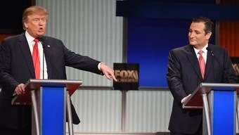 Donald Trump und Ted Cruz gaben sich während der TV-Debatte Saures.