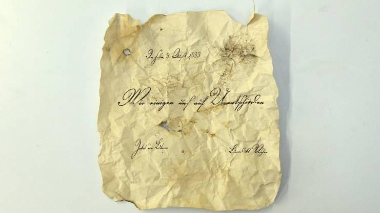Das historische Schriftstück