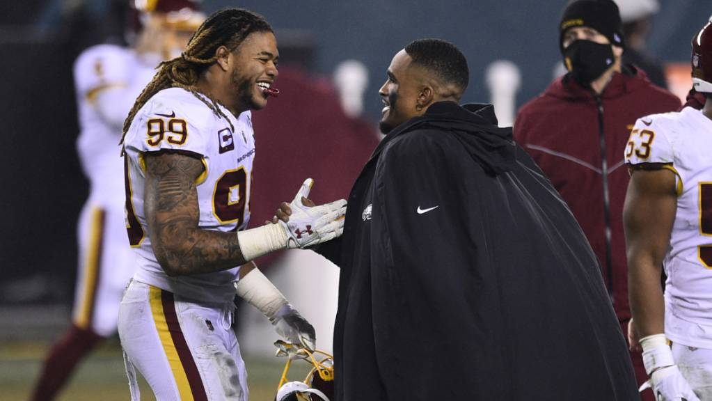 Die Spieler des Washington Football Team freuen sich über den Einzug in die NFL-Playoffs