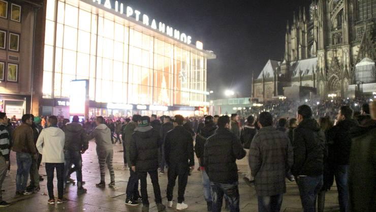 Kölner «Domplatte» Silvester 2015.