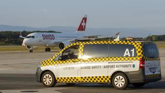Weiterhin mit Restriktionen unterwegs: Die A220 der Swiss. (KEYSTONE/Salvatore Di Nolfi)