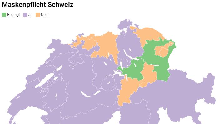 Zentralschweiz: Diese Regeln gelten bei der Maskenpflicht