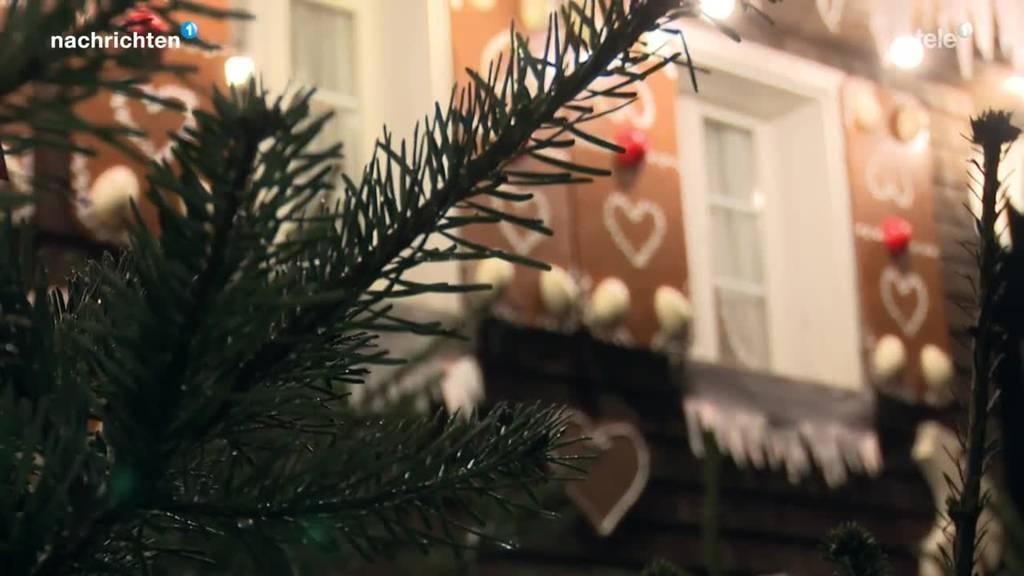 Emmer Lebkuchenhaus erstrahlt weihnachtlich