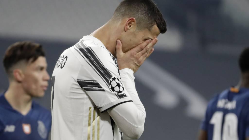 Cristiano Ronaldo scheitert mit Juventus Turin wie im letzten Jahr im Achtelfinal der Champions League