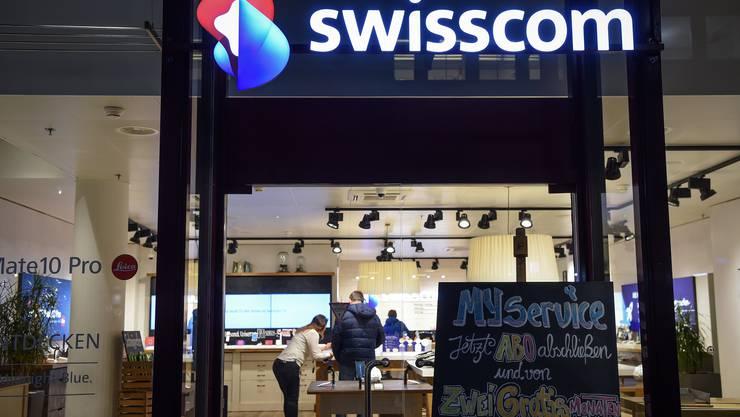 Die Swisscom blickt auf ein durchzogenes erstes Halbjahr zurück