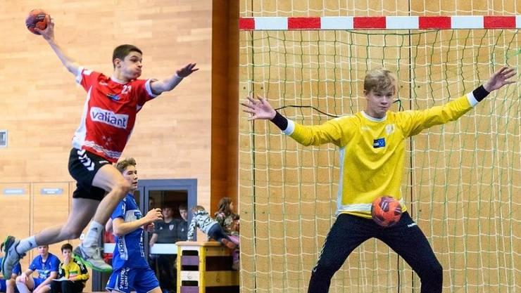 Umworbene Spieler wie Timo Fischer (l.) und Leopold Thumann bleiben der HSG Aargau Ost trotz Nichtaufstieg wegen des Saisonabbruchs erhalten.