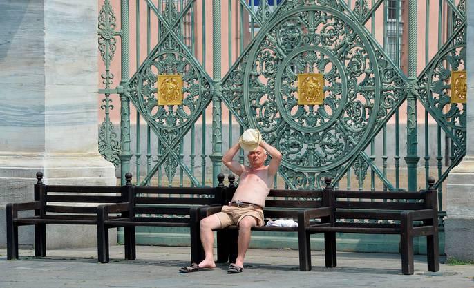 Vor dem königlichen Palast in Turin.
