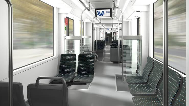 Aus Kostengründen kommt das Aargau-Verkehr-Innendesign zur Anwendung.