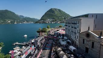 Die Zielankunft der 17. Etappe des Giro d'Italia in Lugano
