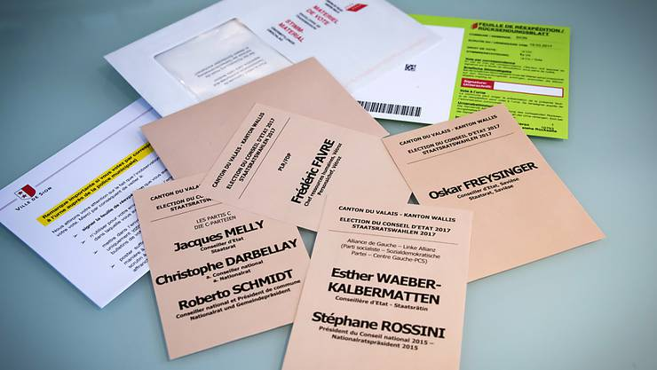 Nach dem zweiten Wahlgang der Walliser Staatsratswahlen haben die Behörden von Brig und Visp Anzeige wegen des Verdachts auf Wahlbetrug eingereicht. (Symbolbild)