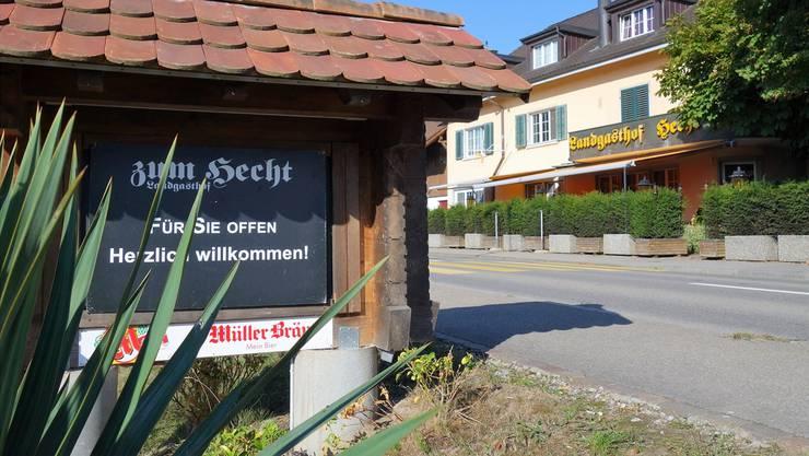 Nach wie vor geöffnet: Landgasthof zum Hecht in Rottenschwil.