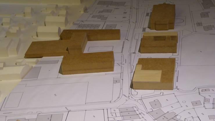 Modell Umsetzung neues Primarschulgebäude und Option Neubau Dreifachturnhalle