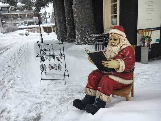Der Nikolaus geniesst die Winterferien