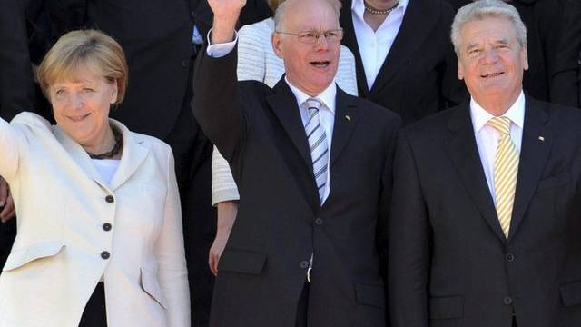 Angela Merkel, Norbert Lammert und Joachim Gauck (v.l.n.r.) in München