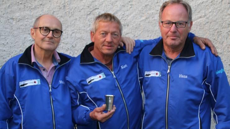 vlnr. Heinz Jakob, Rolf Hilfiker und Hans Pulver